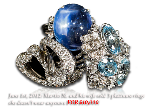 sell platinum and diamond rings in NY with us .. payout over $10,000